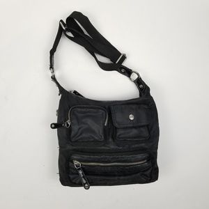 Franco Sarto Nylon Black Crossbody Bag